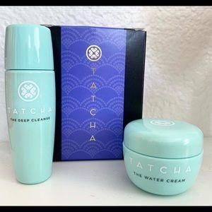 Tatcha water cream cleanser duo set